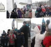 Крещенский поход к святому источнику в окрестностях п.Комсомольский Чамзинского благочиния