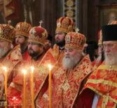 Преосвященнейший Вениамин, епископ Ардатовский и Атяшевский принял участие за Божественной литургией в кафедральном соборном Храме Христа Спасителя в Москве