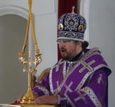 Архипастырь совершил Божественную литургию Василия Великого в Никольском кафедральном соборе г.Ардатова