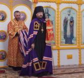 Неделя 3-я по Пасхе, Святых жен мироносиц, Архипастырь совершил Божественную литургию в храме Рождества Пресвятой Богородицы с.Поводимово Дубенского благочиния.