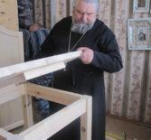 В доме интернате для престарелых и инвалидов с.Козловка Атяшевского района проходят строительные работы по устройству домового храма