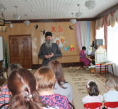 Пасхальный утренник в детском саду «Сказка» п.Комсомольский Чамзинского района