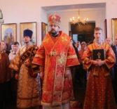 Архипастырь совершил Божественную литургию в Никольском приходе с.Кучкаево Большеигнатовского благочиния