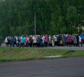 Крестный ход на Духов день в Большеигнатовском благочинии