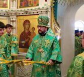 День Святого Духа в храме Живоначальной Троицы подворья Рождества — Богородичного Санаксарского мужского монастыря в г. Саранске