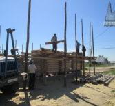 Продолжается строительство нового храма Рождества Христова в селе Симкино Большеберезниковского района