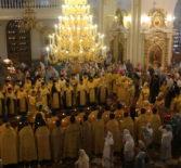 Всенощное бдение в Феодоровском кафедральном соборе г.Саранска, накануне дня памяти святого праведного воина Феодора Ушакова