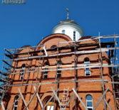 Продолжаются строительные работы по возведению храма в честь Живоначальной Троицы в с.Большие Березники