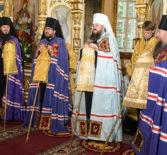 В день памяти святого благоверного князя Александра Невского Владыка Вениамин принял участие в соборном богослужении в Успенском кафедральном соборе г.Пензы