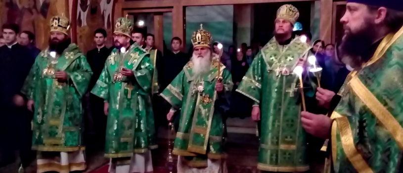 Накануне памяти святого преподобного Сергия Радонежского, Преосвященейший Вениамин, епископ Ардатовский и Атяшевский прнял участие во Всенощном Бдении