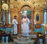 Архипастырь совершил Божественную литургию в храме Архангела Михаила с.Большое Игнатово