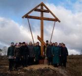 На въезде в Село Спасское Болшеигнатовского района установили и освятили новый поклонный крест