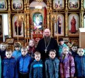 Учащиеся кадетского класса Комсомольской школы №1 посетили приход Трех Святителей с.Сабур-Мачкасы Чамзинского благочиния