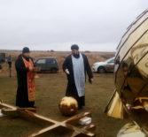 В с.Марьяновка Большеберезниковского района прошло историческое событие началась установка куполов на кровлю старинного храма