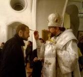 Всенощное бдение в Никольском кафедральном соборе г.Ардатова накануне дня памяти Собора Архистратига Михаила и прочих Небесных Сил бесплотных