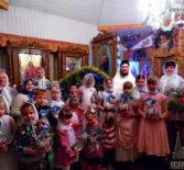 Рождество Христово  в Свято-Введенском храме с.Лобаски 1-го церковного округа Атяшевского благочиния