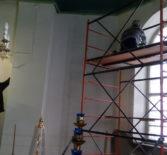 В Казанской церкви с.Киржеманы первого церковного округа Атяшевского благочиния продолжаются реставрационные работы
