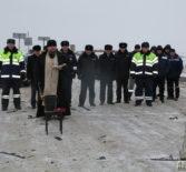 В Дубенском районе прошло освящение участка вновь строящейся дороги Сурск-Дубёнки по просьбе ГИБДД Чамзинского района