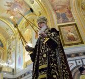 В Храме Христа Спасителя в Москве была совершена Божественная литургия, посвященная девятой годовщине интронизации Святейшего Патриарха Московского и всея Руси Кирилла