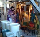 В храме Архангела Михаила п.Чамзинка продолжаются реставрационные работы внутренней части церкви