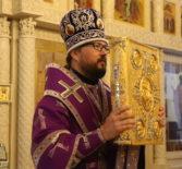 Архипастырь совершил Всенощное бдение в Никольском кафедральном соборе г.Ардатова накануне 4-й Недели Великого поста
