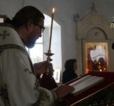 Архиерейское богослужение накануне праздника Похвалы Божией Матери(Субботы Акафиста)