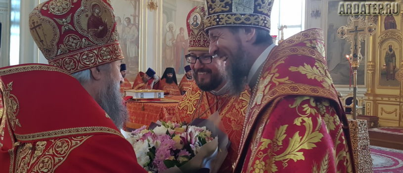 Пасхальная великая Вечерня в Свято-Феодоровском кафедральном соборе города Саранска