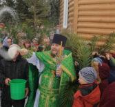 В Дубенском центральном храме благочиния в честь Святителя Николая Чудотворца прошел детскийкрестный ход, посвященный празднику Входа Господня во Иерусалим