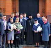 Награждение патриаршей медалью в честь 100-летия востановления патриаршества на Руси директоров Чамзинского муниципального района