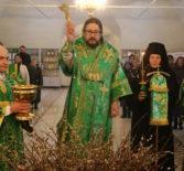 Всенощное бдение в Никольском кафедральном соборе г.Ардатова накануне праздника Входа Господня во Иерусалим