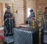 Архипастырь совершил Божественную литургию Преждеосвященных Даров в храме Новомученников и Исповедников Российских г.Ардатова.