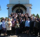 В день Троицкой родительской субботы Архипастырь совершил Божественную литургию в Никольском храме с.Кучкаево Большеигнатовского района
