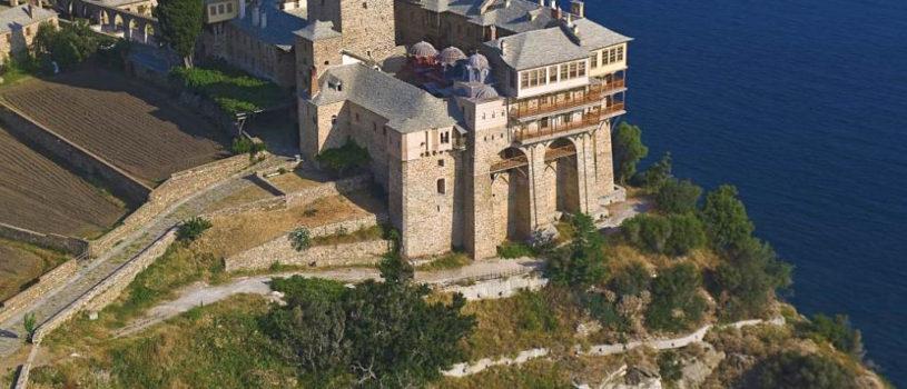 Посещение монастыря Ставроникита в северо-восточной части Афонского полуострова