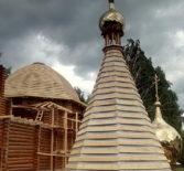 Продолжается строительство новостроящегося Покровского храма в с.Большое Маресево Чамзинского благочиния