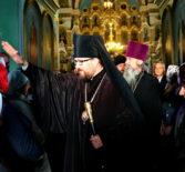 Всенощное бдение на Казанском архиерейском подворье с.Маколово Чамзинского района накануне дня памяти святой великомученицы Параскевы Пятницы
