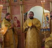 Архипастырь совершил Божественную литургию в Покровском приходе с.Пермиси Большеберезниковского благочиния