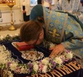 Всенощное бдение в Никольском кафедральном соборе г.Ардатова накануне праздника Успения Пресвятой Владычицы нашей Богородицы и Приснодевы Марии