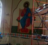 В Казанском храме с.Киржиманы первого церковного округа Атяшевского благочиния продолжаются реставрационные работы
