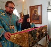 Вечернее богослужение с чтением акафиста Успению Божией Матери в Никольском кафедральном соборе г.Ардатова