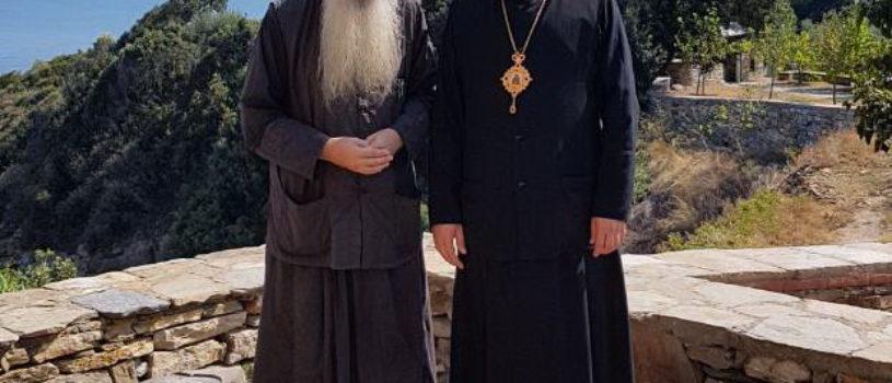 Архипастырь совместно с паломниками Ардатовской епархии продолжает паломничество по Святой горе Афон