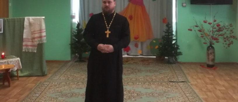 Помощник Чамзинского благочинного по работе с молодежью посетил утренник в детском саду «Красная Шапочка», посвященный празднику Покрова Пресвятой Богородицы