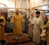 Архипастырь совершил Божественную литургию в храме Архангела Михаила п.Чамзинка