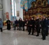 Эскурсия по храму Благовещения Пресвятой Богородицы п.Комсомольский для подростков, стоящих в детской комнате полиции