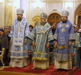 Соборная Божественная литургия в кафедральном соборе в честь святого праведного воина Феодора Ушакова г.Саранска
