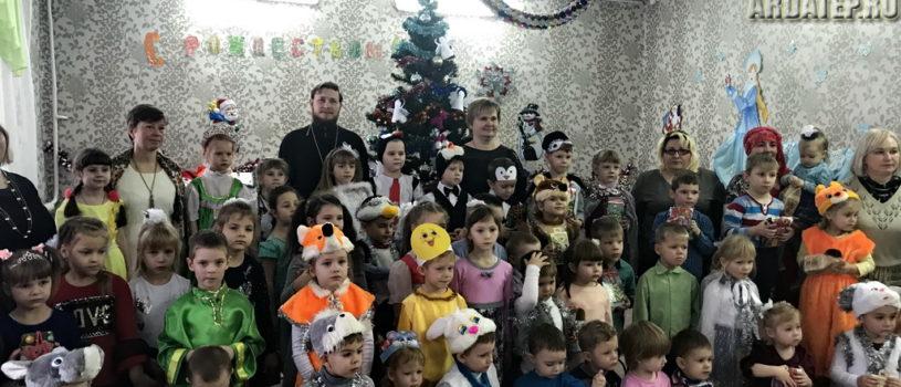 Рождественский утренник в детском саду «Колобок» в п.Тургенево Ардатовского района