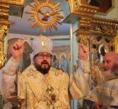 Архипастырь совершил Божественную литургию  в храме Архангела Михаила с.Низовка Ардатовского благочиния