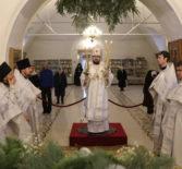 В день празднования Собора Пресвятой Богородицы, Архипастырь совершил Божественную литургию в Никольском кафедральном соборе г.Ардатова
