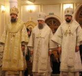 Великая вечерня в Кафедральном соборе в честь святого праведного воина Феодора Ушакова города Саранска