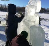 Кучкаевский приход Большеигнатовского благочиния провел традиционный «Крещенский фестиваль ледовых фигур»