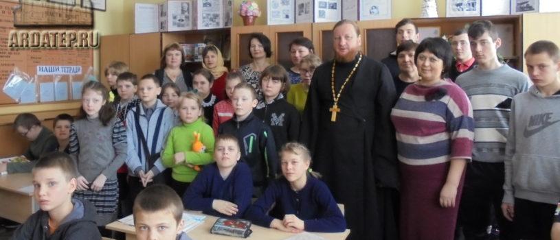 В Поводимовской школе-интернате Дубенского района прошла Сретенская встреча